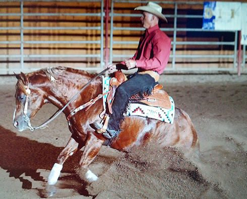 Montana Reining Horse Association Like A Diamond Spark at Perfect