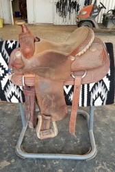 "15.5"" Teskeys Competition Series Roping Saddle"